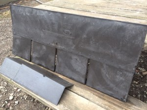 Euroshield EuroLite Slate 4 tab shingle and roof cap